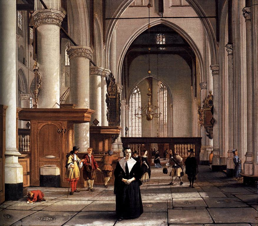 bestandinterior of the sint laurenskerk in rotterdam by cornelis de manjpg