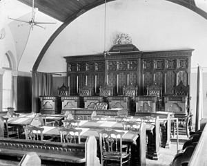 History of the Supreme Court of Canada - Interior of Supreme Court courtroom
