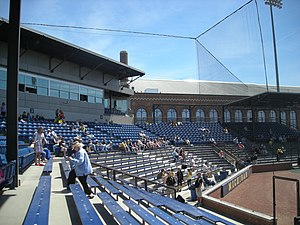 Ray Fisher Stadium - Image: Iowa vs. Michigan baseball 2013 04 (Ray Fisher Stadium)