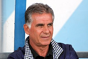 Carlos Queiroz - Queiroz managing Iran in a friendly against Montenegro in May 2014