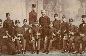 Austro-Hungarian military mission in Persia - Iranian cadets of the Austrian military academy in Tehran, around 1900