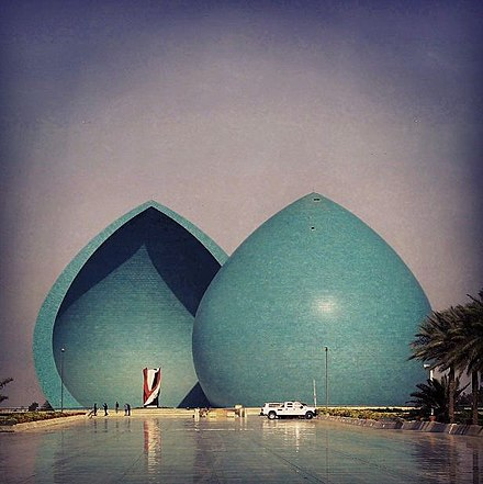 Al-Shaheed Monument in Baghdad was erected to commemorate the fallen Iraqi soldiers during the war. Iraq baghdad 04.JPG