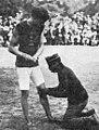 Irving Baxter (Pensylvania University), champion olympique du saut en hauteur et du saut à la perche, aux JO 1900.jpg