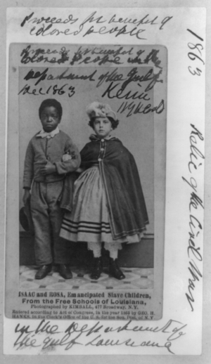 Isaac and Rosa, emancipated slave children fro...
