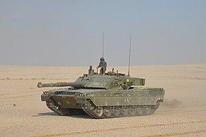 Esercito Italiano - 4 ° Reggimento Carri - Carro Ariete in Qatar.jpg
