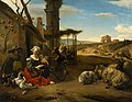 Italian Landscape with Inn and Ancient Ruins by Jan Baptist Weenix Mauritshuis 901.jpg