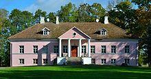 Järlepa mansão na Estónia.