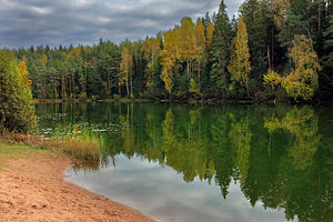Ida-Viru County - The Jõuga lakes in Iisaku Parish. Estonia