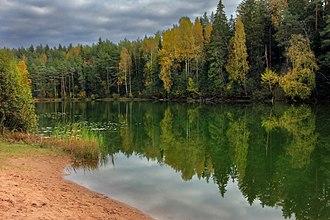 Ida-Viru County - The Jõuga lakes in Iisaku Parish. Estonia