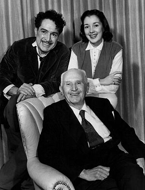 J. Carrol Naish - Three generations of Naishes in 1952. Seated is Patrick Naish; standing are his son, J. Carrol, and granddaughter, Elaine. Elaine Naish was an actress who often played supporting roles on Life With Luigi.
