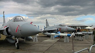 Nigerian Air Force - JF-17 Thunders at Farnborough Airshow 2010