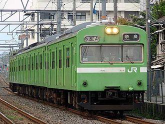 Nara Line (JR West) - 103-series local train near Inari