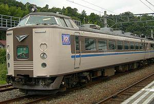 Monju (train) - 183 series EMU on a Monju service at Amanohashidate Station, August 2009