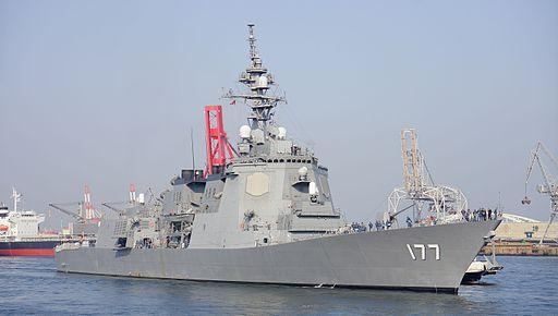 JS Atago(DDG-177) in Tenpouzan Port 20140426-01
