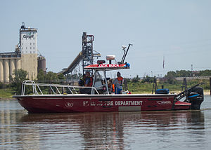 St. Louis Fire Department - Jack Buck patrols the Mississippi during Fair Saint Louis