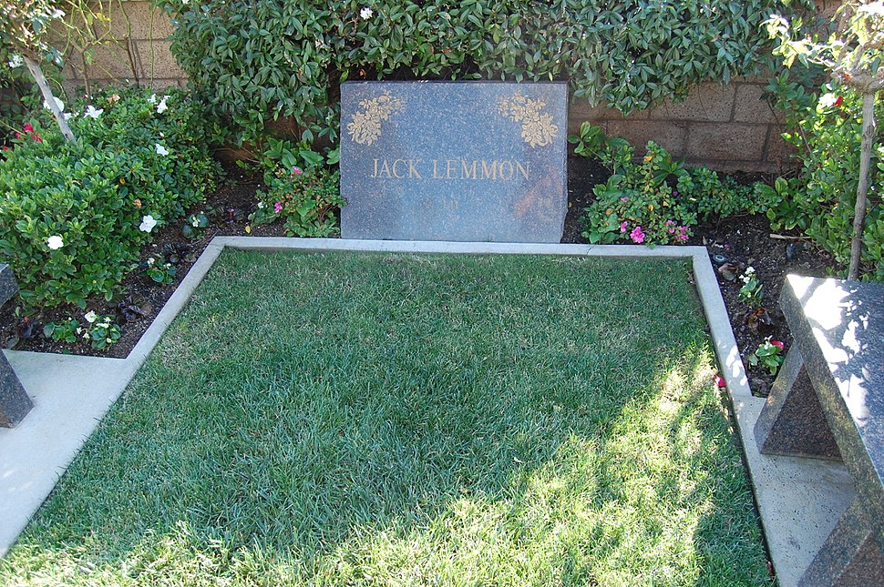 Jack Lemmon grave at Westwood Village Memorial Park Cemetery in Brentwood, California