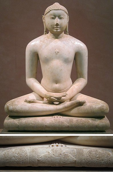 File:Jain Svetambara Tirthankara in Meditation Seated on a Throne Cushion, Solanki period, Metropolitan Museum of Art.jpg