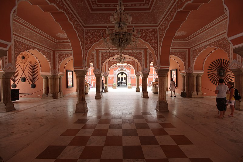File:Jaipur city palace interior.jpg