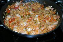 Creole Jambalaya with Shrimp, Ham, and Andouil...