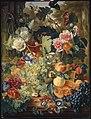 Jan van Huysum - Stilleven van bloemen en vruchten op een marmeren blad.jpg