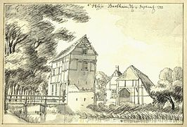 Barlham door Jan de Beijer in 1743.