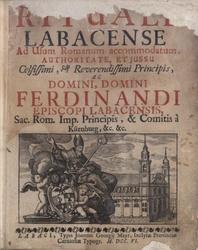 Latina: Rituale Labacense ad usum Romanum accommodatum, authoritate, et jussu