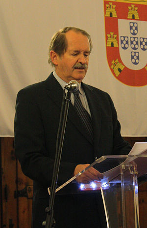 Duarte Pio, Duke of Braganza - Duarte Pio speaking at the Royal Dinner of the Forty Conspirators; 2008.