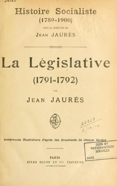 File:Jaurès - Histoire socialiste, II.djvu