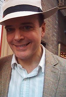 A picture of actor Jefferson Mays outside after a showing of The Gentleman's Guide to Love and Murder'