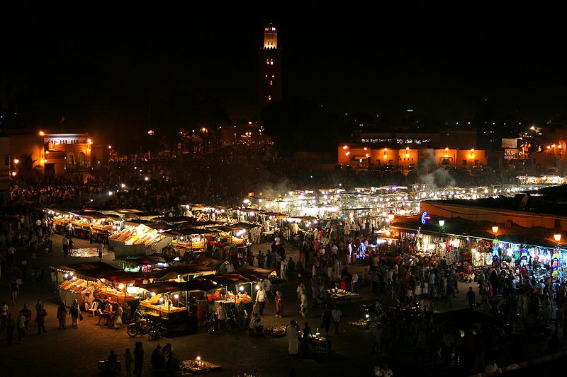 File:Jemaa el-Fnaa at night - Maroco - Marrakesh.jpg