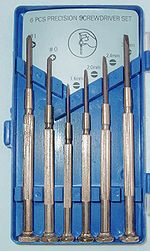 Jeweler's screwdriver set