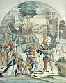 Johann Anton Ramboux - Saint Catherine of Siena Rescues Two Dominicans from the Hands of Robbers - Google Art Project.jpg