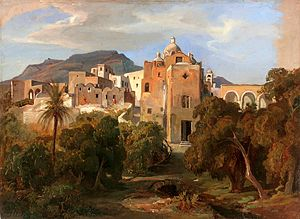Johann Wilhelm Schirmer Capri mit Blick auf Santa Serafina