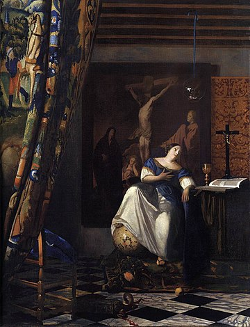 Johannes Vermeer - The Allegory of the Faith - WGA24700
