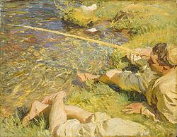 SARGENT John Singer A Man Fishing c.1906