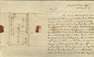 John Beatty (Continental Congress) - Letter from John Beatty, 1784