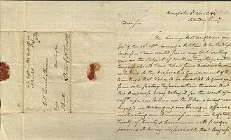John Beatty (Continental Congress) - Letter from John Beatty, 1784