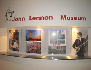 John Lennon Museum - Display at the entrance
