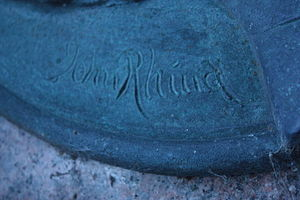 John Rhind (sculptor) - John Rhind's signature
