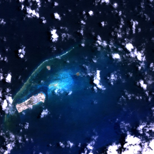 Satellitenbild des Johnston-Atolls