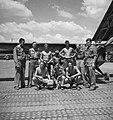 Jongens van de Nederlandse Luchtmacht op het vliegveld van Semarang., Bestanddeelnr 11828.jpg