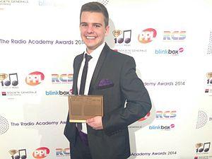 Jonty Usborne - Usborne at the 2013 Radio Academy Awards