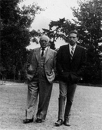 Salvador de Madariaga - Madariaga with Antonio Jauregui in Oxford, 1972.
