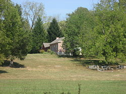 A farmhouse in northern Clear Creek Township