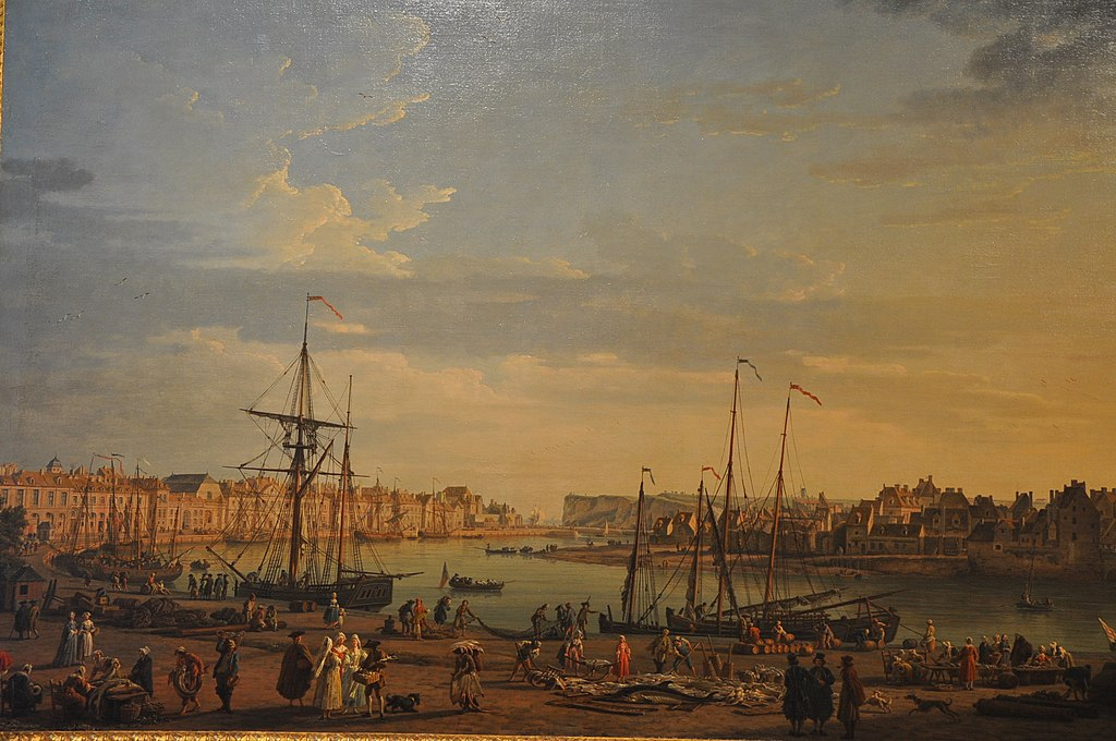 Joseph Vernet, vue du port de Dieppe,1765