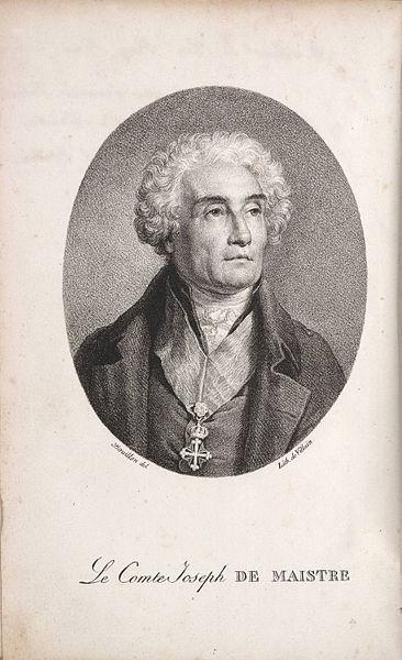 De Maistre - father of the Counter Revolution