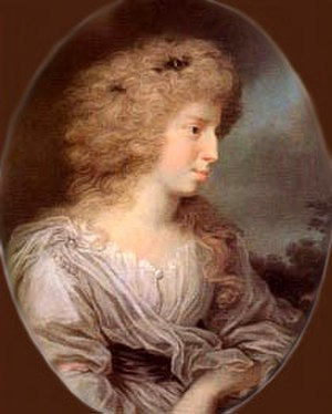 Julie von Voss - Julie von Voß, Gräfin Ingenheim, um 1785
