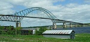 New Brunswick Route 11 - Centennial Bridge carries Route 11 over the Miramichi River.