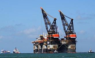Crane vessel - Image: KOGA , THIALF , SMIT SCHELDE & SMIT SEINE (13823134403)