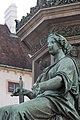 Kaiser Franz-Denkmal Hofburg Wien 2015 Sitzfiguren Friede 3.jpg